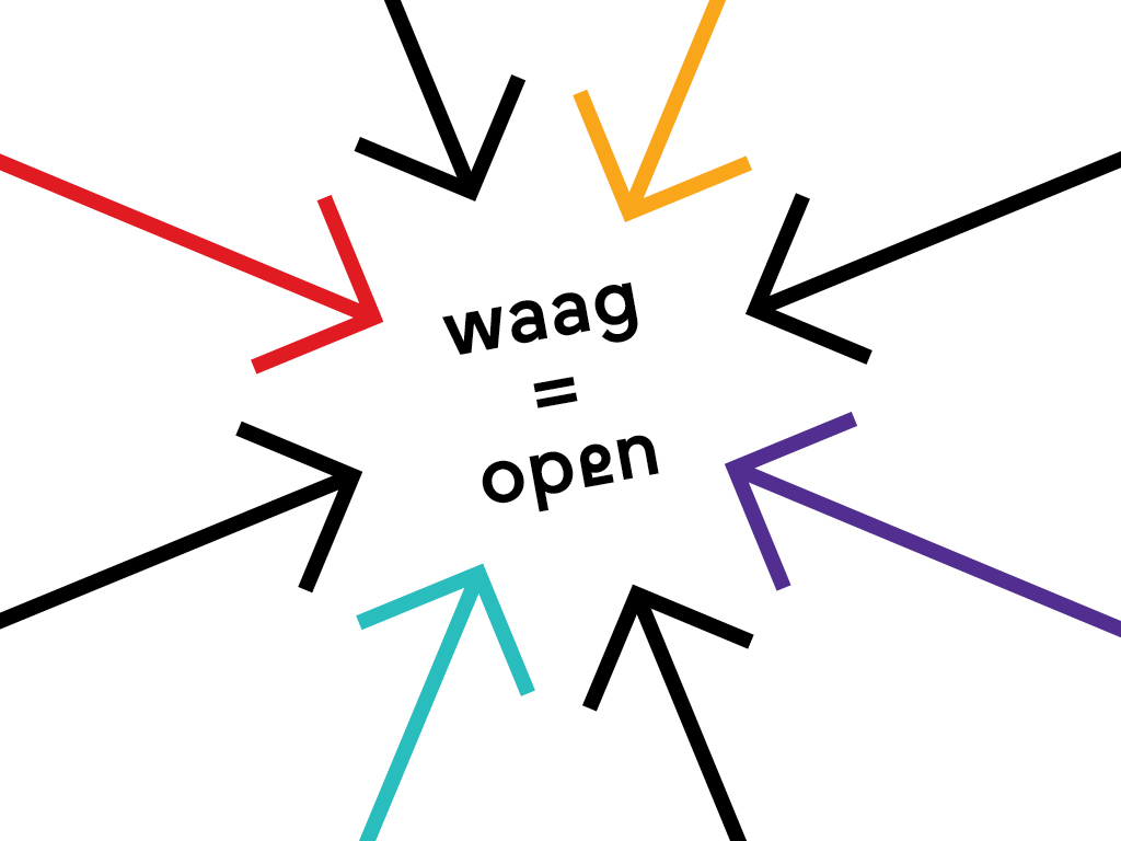 Waag is open visual