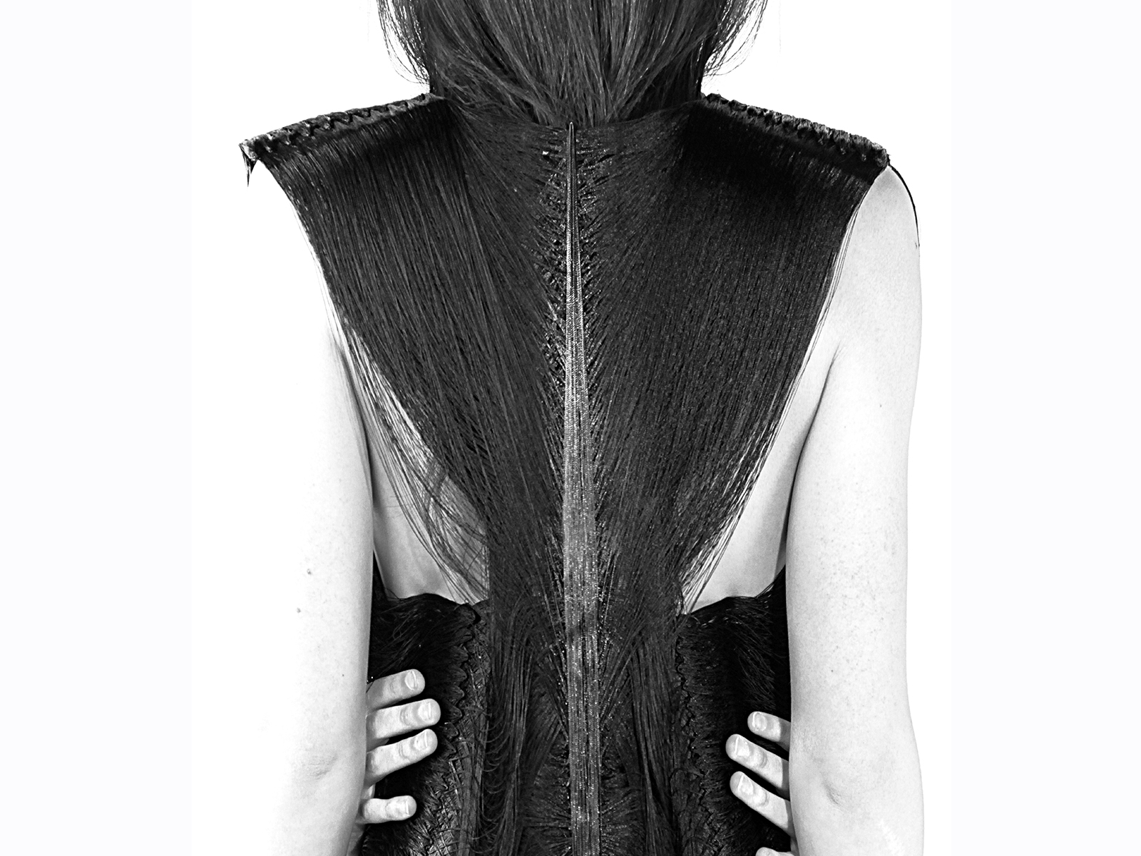 Back bone dress by Jeanne Vicerial - photo Doris Lanzman, model Julia Gault