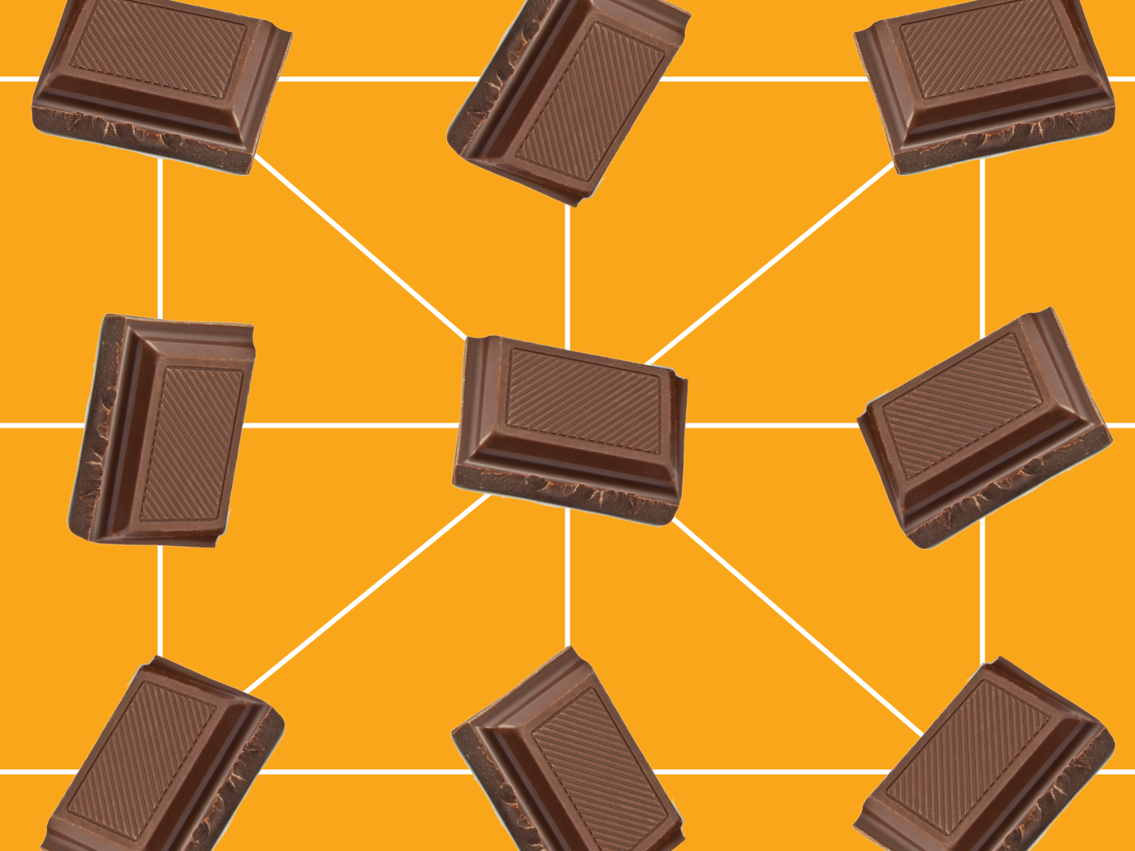 Blockchain chocolate bars visual