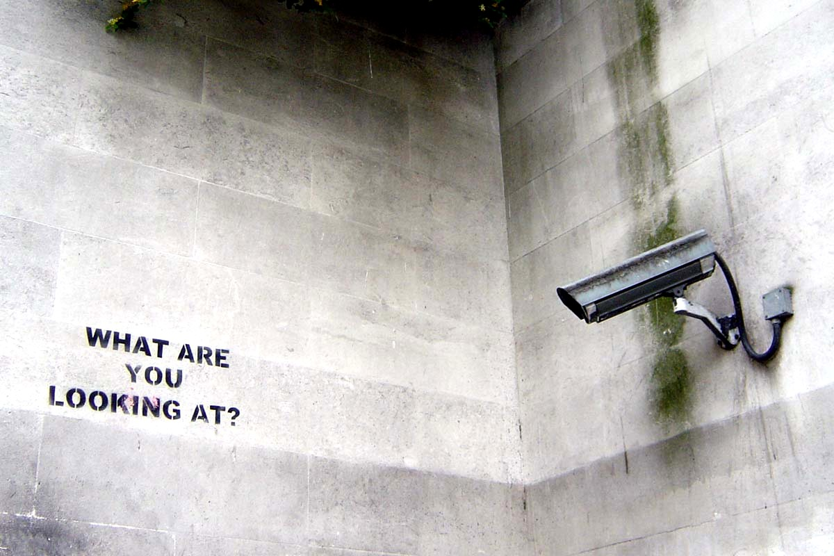 Banksy - What are your looking at?