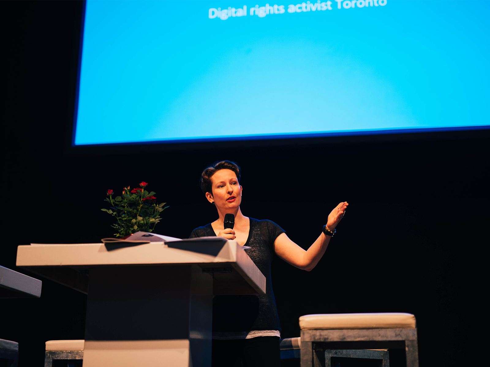 Bianca Wylie op Cities for Digital Rights conferentie