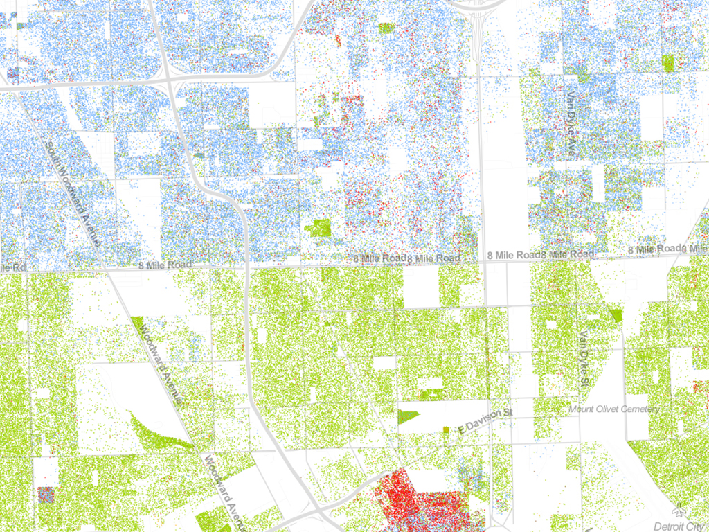 Racial Segregation In The Us Mapped Waag - Map-of-segregation-in-us