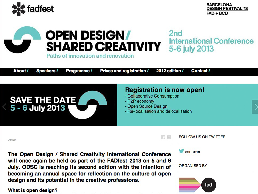 Open Design / Shared Creativity Conference