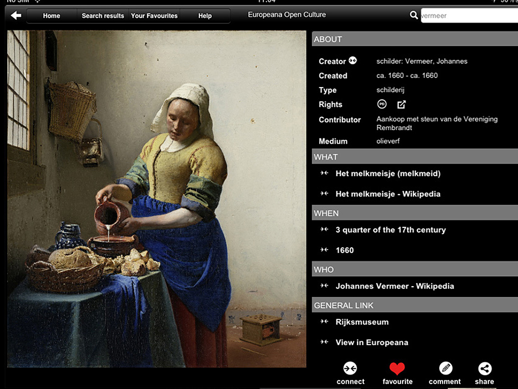 Europeana app screenshot