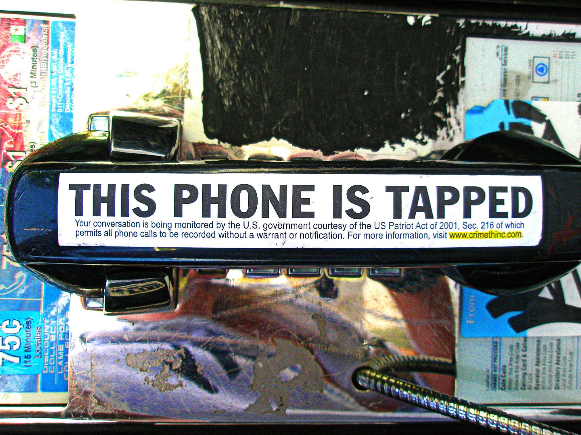 This phone is tapped