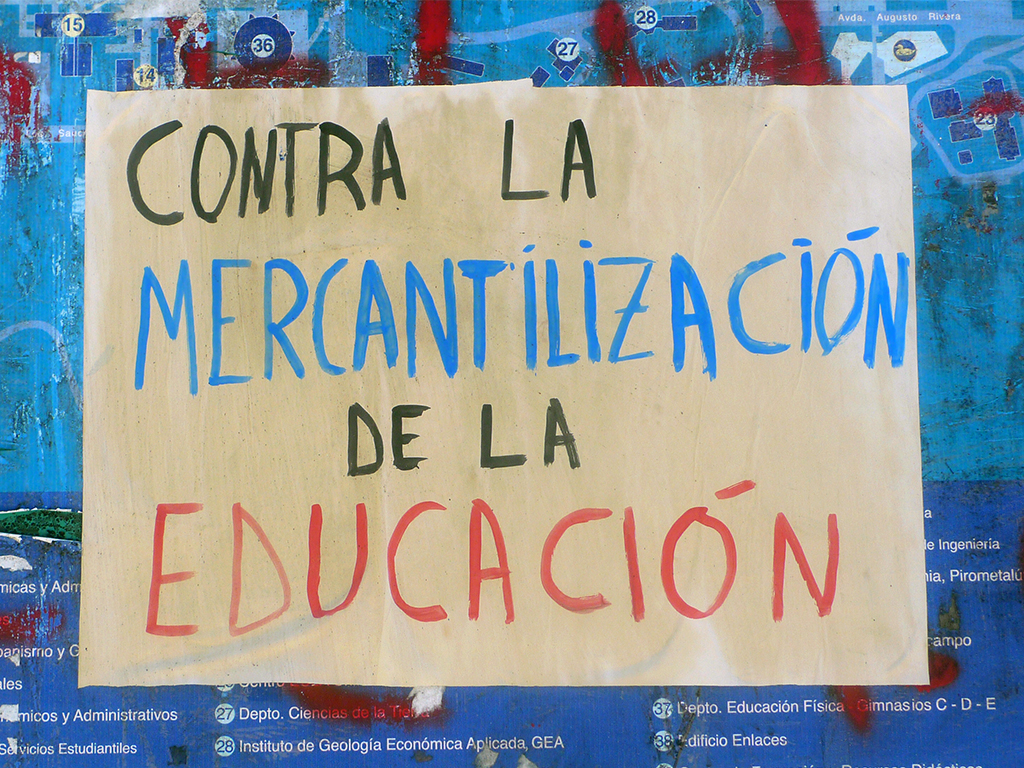 Contra la mercantilizacion de la education