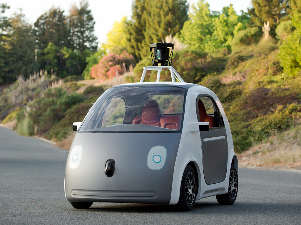 Google self-drinking car