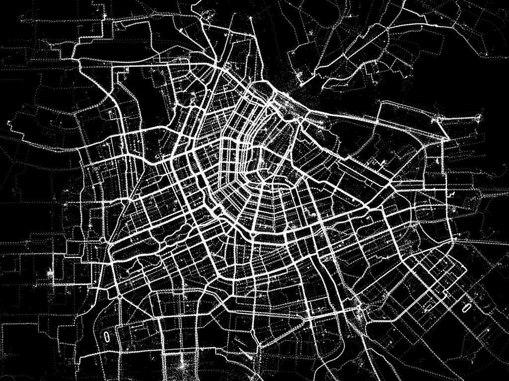 Amsterdam biking map Human