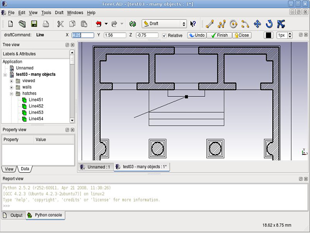 FreeCAD software screenshot