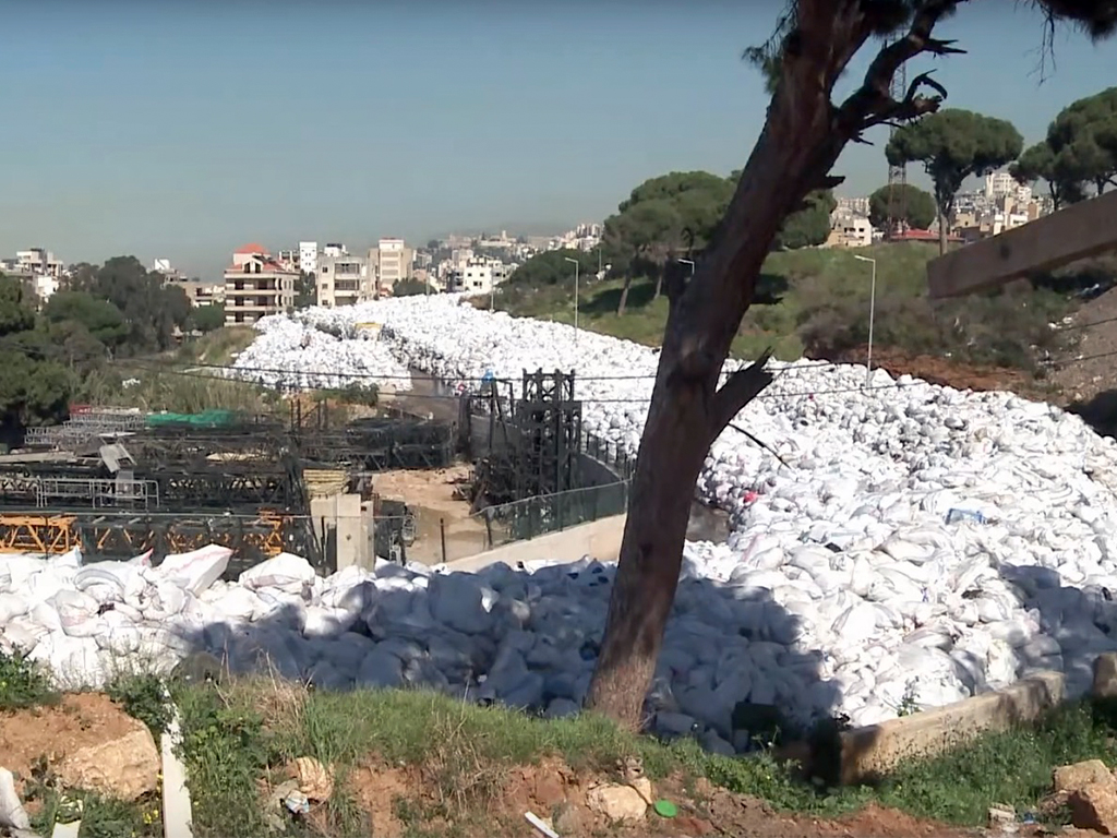 River of trash Lebanon