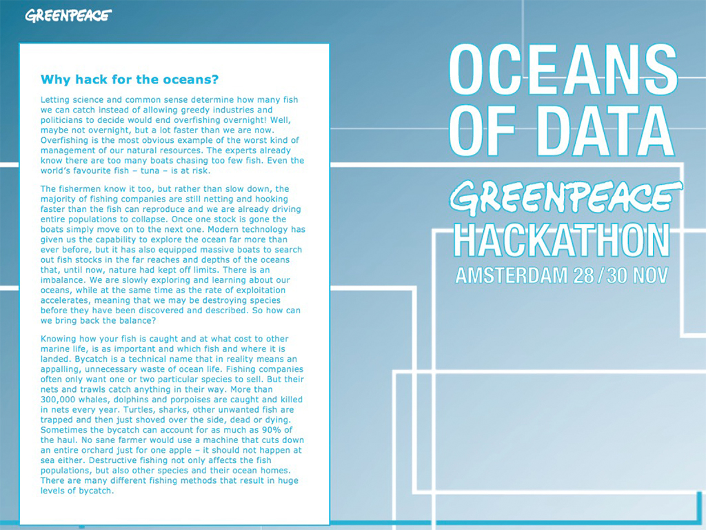 Greenpeace Oceans of data