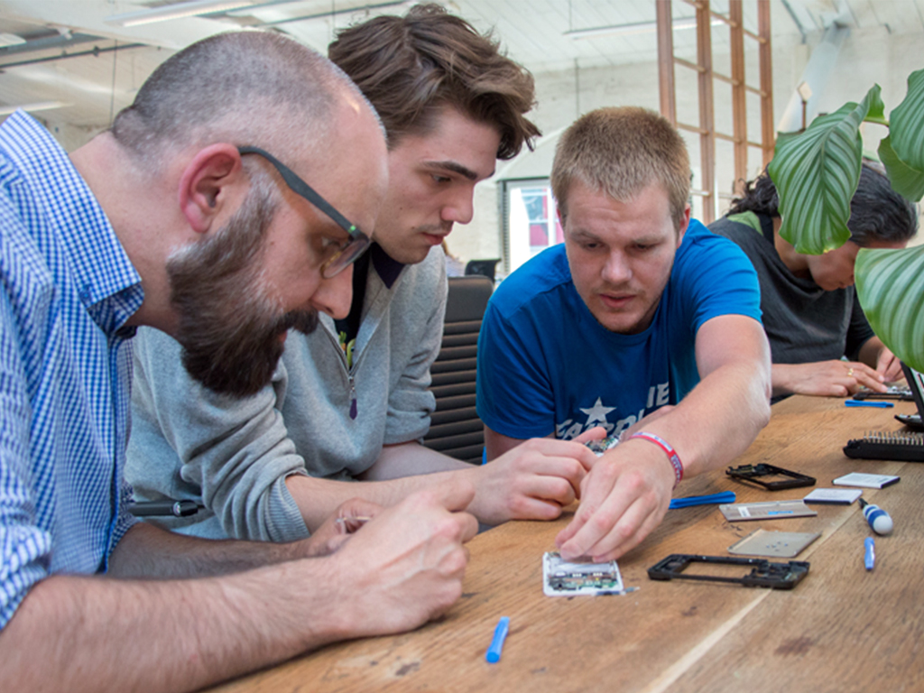 Fairphone crew at Amsterdam HQ