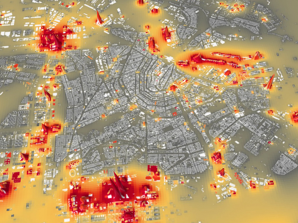 PUMA Mapping steel in Amsterdam buildings